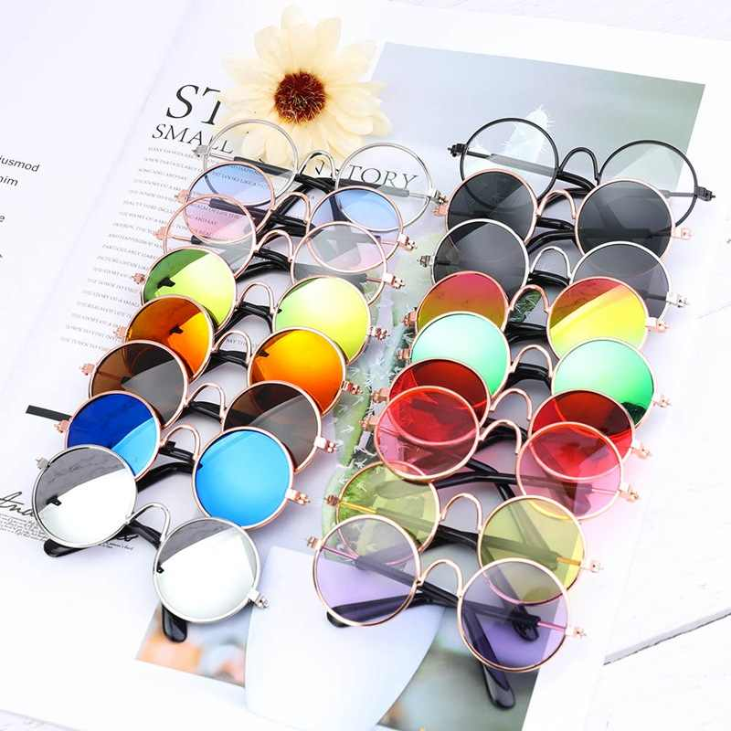 2019 New Doll Toy Cool Sunglasses For American toy Baby toy Dolls Glasses Pet  Photo Prop Pet Glasses Doll Sunglasses