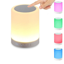 Fashion Smart Touch Sensor Lamp Wireless Bluetooth Speaker LED night Light Loudspeaker Handsfree call 3D stereo altavoz portatil