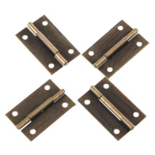 4Pcs 38x25mm Antique Bronze Furniture Hinge Jewelry Box Cabinet Drawer Door Butt Hinge for Wood Jewellery Box Furniture Hardware 100pcs 30 18mm antique bronze metal buckles latches catches wooden gift packaging floret jewellery box drawer cabinet door fix