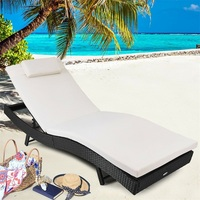 Outdoor Rattan Chaise Lounge Chair High Quality Lounge Outdoor Patio Furniture Adjustable Beach Chair Recliner Chair HW52051