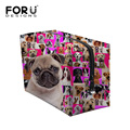 Large Lady Travel Cosmetic Bag Cute Pug Dog Poodle Rottweiler Printed Makeup Bag Women Brand Cosmetic Pouch Animal Toiletry Bag