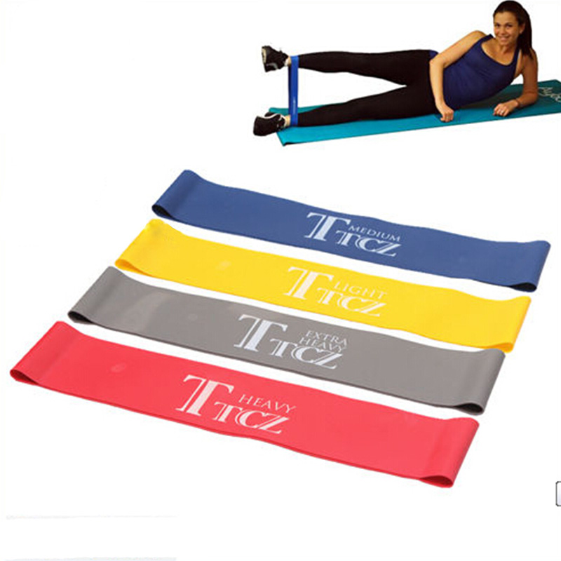 4 Levels Fitness Equipment Cross Fit Loop Pull Up Yoga Tension Resistance Bands Rubber Expander Band Pounds For Training Body