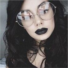 Retro Oversized Round Glasses For Women Brand Designer Transparent Glasses Men Metal Full Frames Glasses Vintage Reading Eyewear