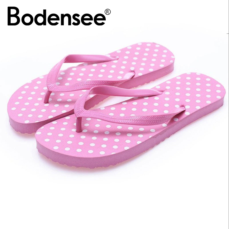 BODENSEE 12 Colors Women Slippers PVC Women Beach Flip Flops Summer Fashion Slippers Ladies Comfy Shoes Woman Home Flat Sandals цена