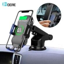 Qi Wireless Caricabatteria Da Auto Supporto Auto Serraggio 10W Veloce di Ricarica Supporto Del Telefono Per il iPhone 11 8 X XR XS Samsung S20 S10 S9 Nota 10 9