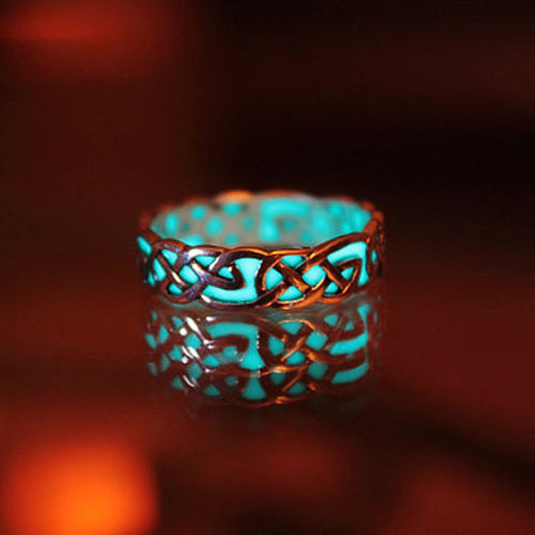 Glow-In-The-Dark-Ring-Style-Retro-Can-be-Adjusted-Geometric-Mayan-Mysterious-Luminous-Fluorescent-Glowing (3)