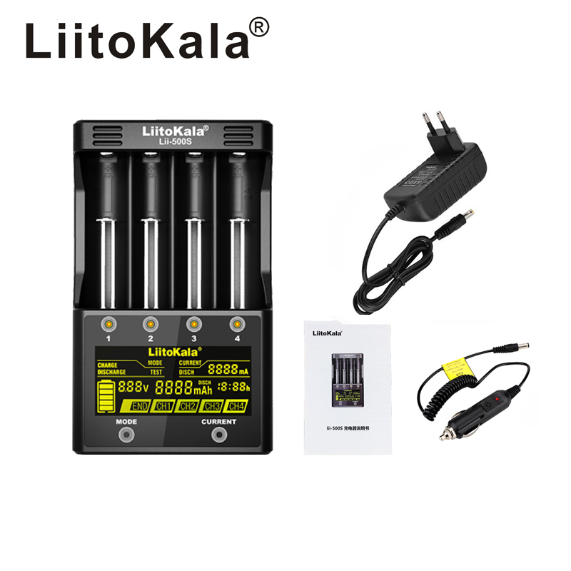 LiitoKala lii-500S LCD 3.7V 1.2V 18650 26650 21700 Battery Charger with screen ,Test the battery capacity Touch controlLiitoKala lii-500S LCD 3.7V 1.2V 18650 26650 21700 Battery Charger with screen ,Test the battery capacity Touch control