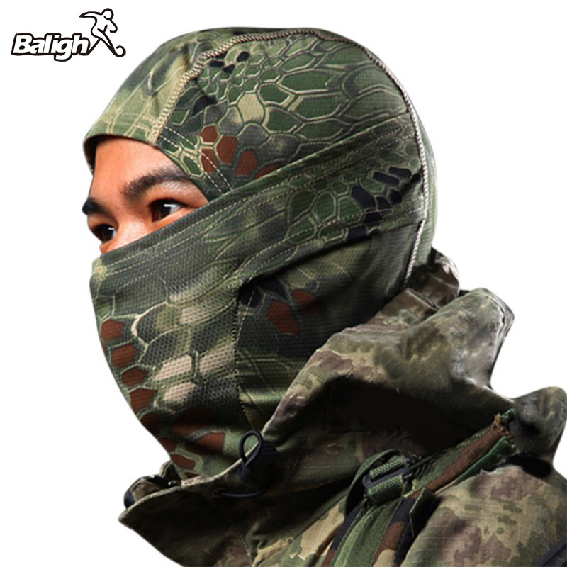 Camouflage Full Face Mask Quick-dry Hood Hunting Fishing Scarf Outdoor Hiking Cycling Warm Face Mask Hat coolchange 20006 cycling thicken fleeces face mask hat scarf black