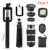 12in1 Kit de 8x de Zoom de la Lente de La Cámara Teleobjetivo Lentes de ojo de Pez Lente Gran Angular Macro para iphone 6 6 s 7 plus samsung s3 s4 s5 s6 s7 edge
