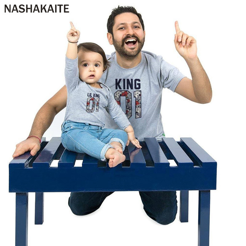 Father Son Clothes Summer 2018 T-shirt Family matching clothes Family Look Tees Letter Family Set Funny Dad Baby t Shirt ...