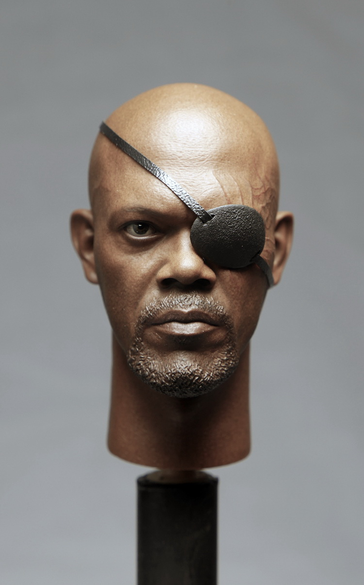 1:6 scale male Figure accessories Captain America The Winter Soldier Nick Fury head shape carved for 12 Action figure doll 1 6 scale desert camouflage tactical vest male cloths for 12 action figure soldier body accessories toys