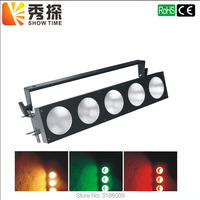 Show Time High Quality 5PCS 10W RGB LED white COLORE DMX 512 Controller LED Matrix Blinder Bar stage party lighting 5X30W power