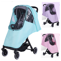 Universal Rain Cover for Stroller Waterproof Rain Cover Stroller Winter Windshield Child Baby Umbrella Pram Zipper Rain Cover