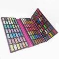 Pro 126 Cor Bonita Shimmer Sombra Make Up Kit Palette Brilho sombra de olho Pigmento compõem cosméticos caixa de Maquiagem de Couro