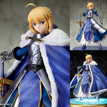 Nuevo caliente 25cm Fate Zero Fate stay night saber Artoria Pendragon (Lily) ropa de invierno edición Deluxe figuras de acción de juguete muñeca sin caja