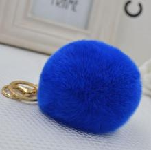 Fashion New Design Factory Price Rabbit Fur Key Chain Faux Fur Keychain Keyring Key Ring Natural Rabbit Fur Pompom Accessory