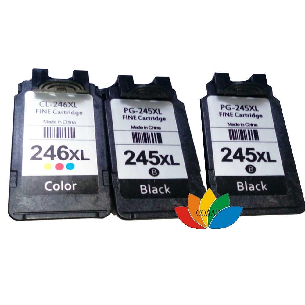 3 x cartucho de tinta compatível para canon pg-245 cl-246 pixma mg2520 mg2620 mg2922 mg2924 ip2820 mx490 mx492