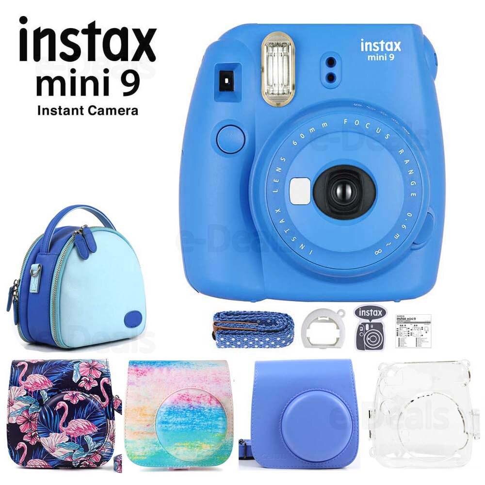 Fujifilm Instax Mini 9 Instant Film Camera Cobalt Blue Quality Soft PU Leather Carry Case with
