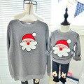 Рождественские свитера семья посмотрите одежда мать дочь отец сына пуловер свитер девушка ансамбль гарсон roupas infantis menino
