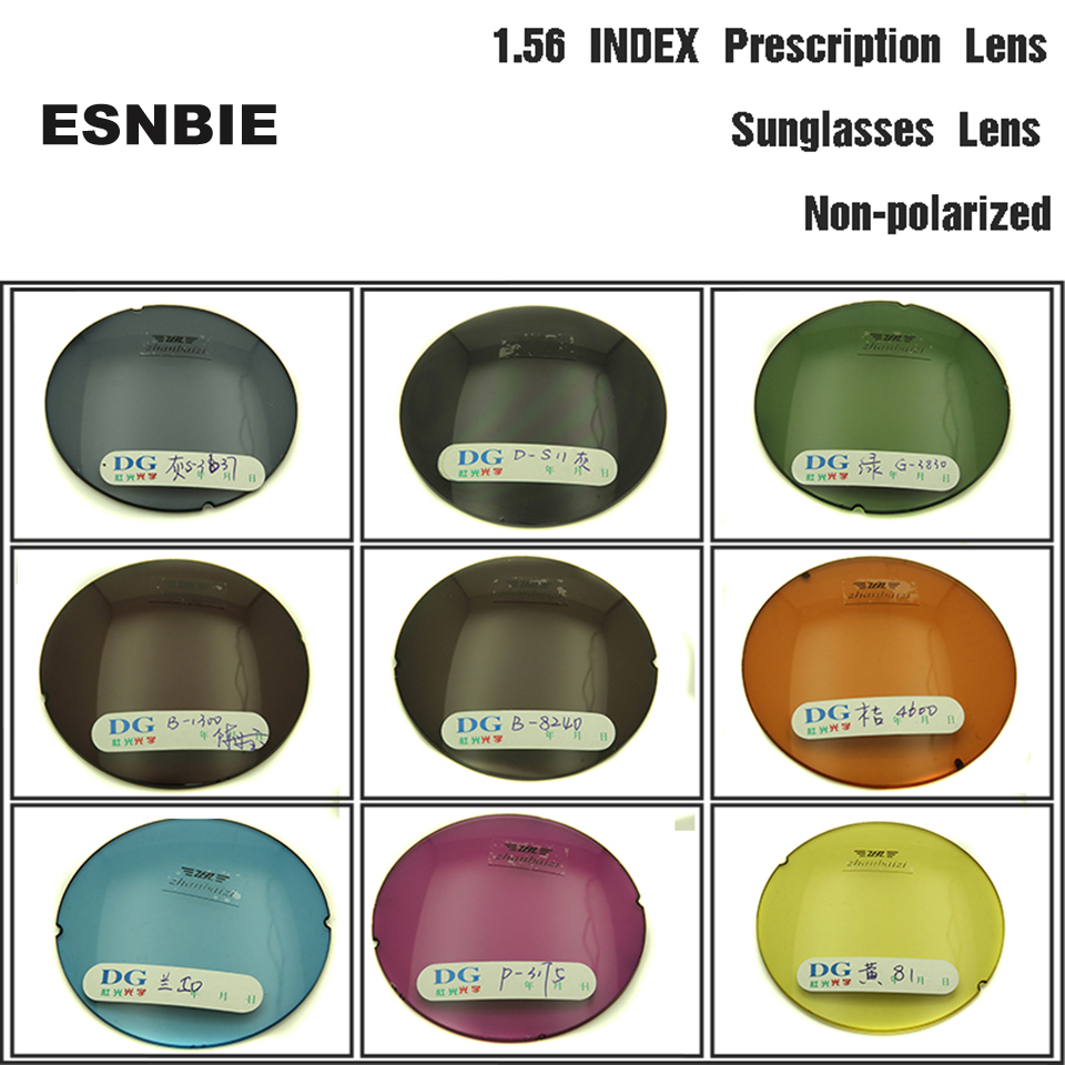 ESNBIE OPTICAL Tilpassede Tint Objektiver Prescription Objektiv for Eyes 1.56 Index Aspheric Lens Colored Eyeglasses Lens