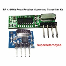 QIACHIP RF 433MHz Superheterodyne Module Receiver and Transmitter with Antenna For Arduino Uno DIY Kits 433 MHz Remote Control