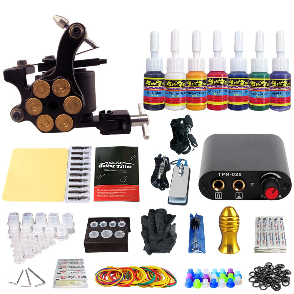 Stigma Complete Tattoo Kit 1 Gun Coil Machine Sets 7 Inks TK105-35Stigma Complete Tattoo Kit 1 Gun Coil Machine Sets 7 Inks TK105-35