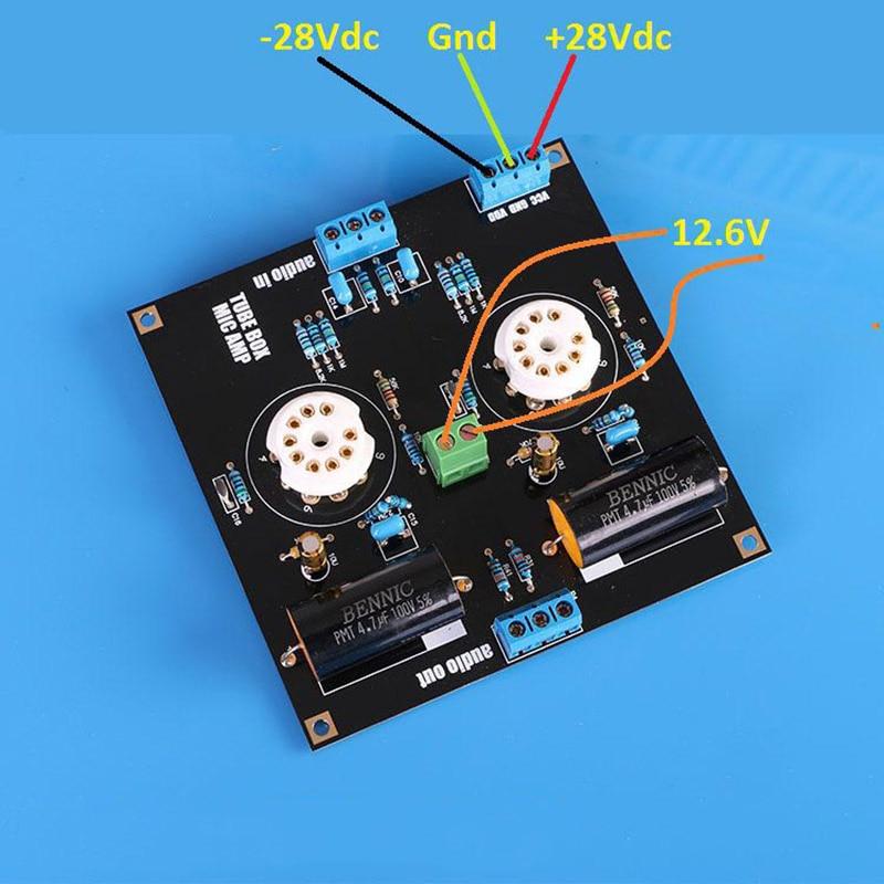 Bile Preamp Tube Amplifier Preamp Bile Buffer HIFI Preamplifier Base on  Music Fidelity X-10D Circuit Dual 12-30V