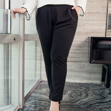 2018 new fashion Korean edition new large code women's loose fitting suit trousers 563