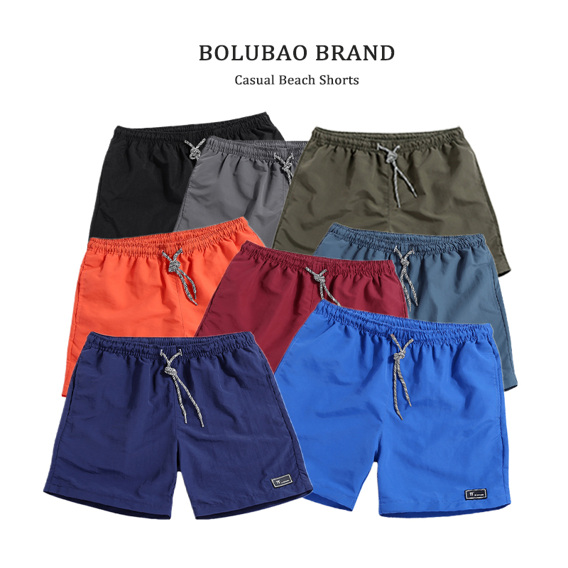 BOLUBAO Fashion Brand Men   Short   2019 Summer Male Casual Slim Fit   Shorts   Solid Color Breathable Elastic Waist Bermuda   Short   Men