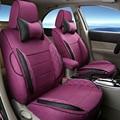 Cubierta de Asiento de Coche Cubiertas de coche Protector para Renault Scenic 5 Asientos Accesorios Interiores del Coche De Lino Cojines de Soporte lumbar apoyo para la Cabeza