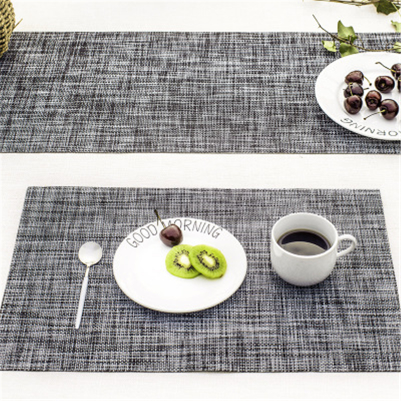 45*30 CM Europe Rectangle Table Placemat Waterproof PVC Mat Pad Restaurant Dining Coffee Dessert Table Decoration Accessories