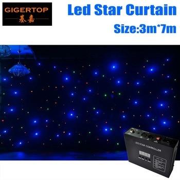 3 M * 7 M e 7 M * 3 M Tenda Stella LED RGBW LED della Fase di nozze Fondale LED stella Panno Per La Cerimonia Nuziale di Alta Qualità Tenda Luce A Prova di Fuoco
