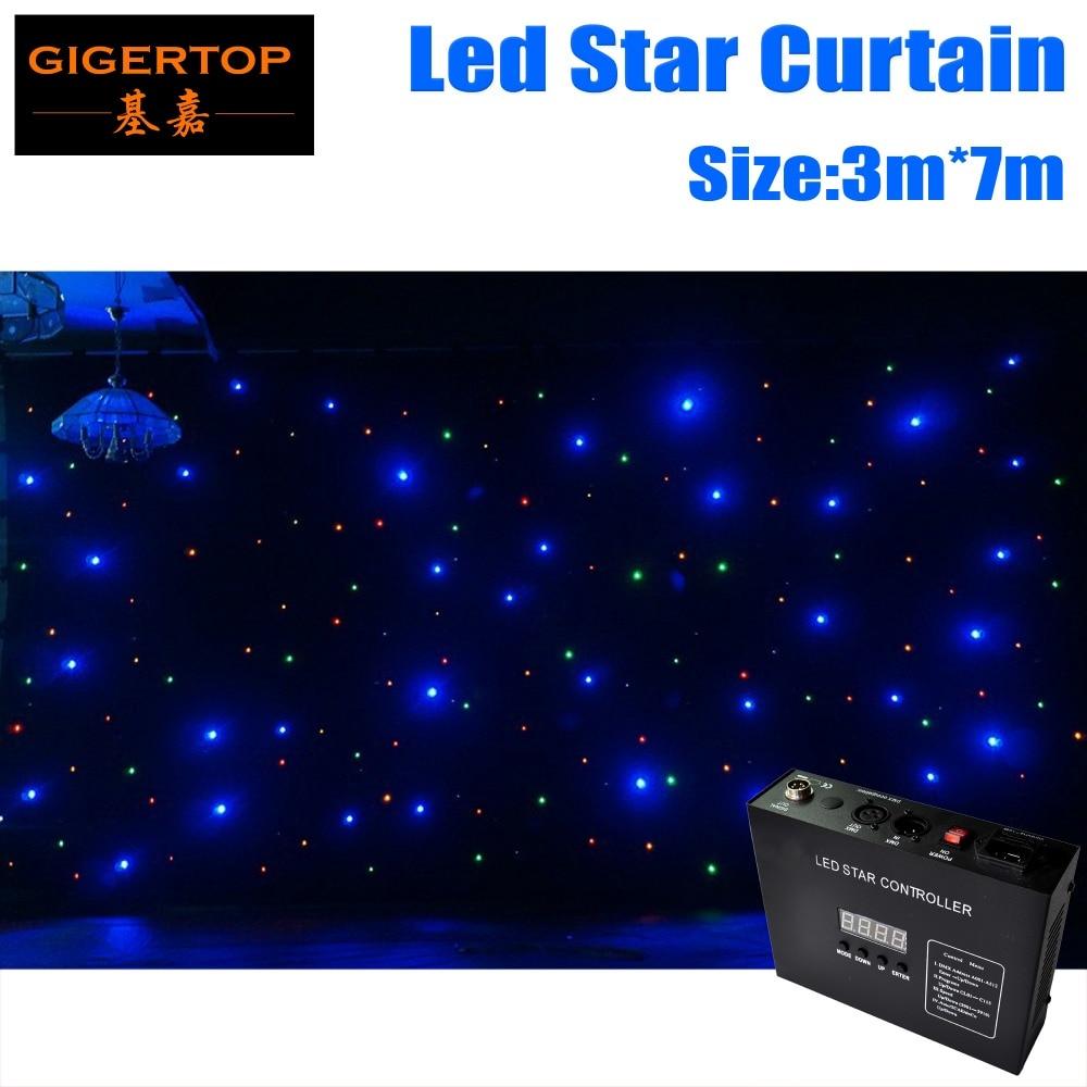 3 M * 7 M et 7 M * 3 M rideau étoilé LED RGBW LED Scène Toile de Fond de mariage LED Tissu Détoile Pour Mariage Haute Qualité Ignifuge Rideau Lumineux
