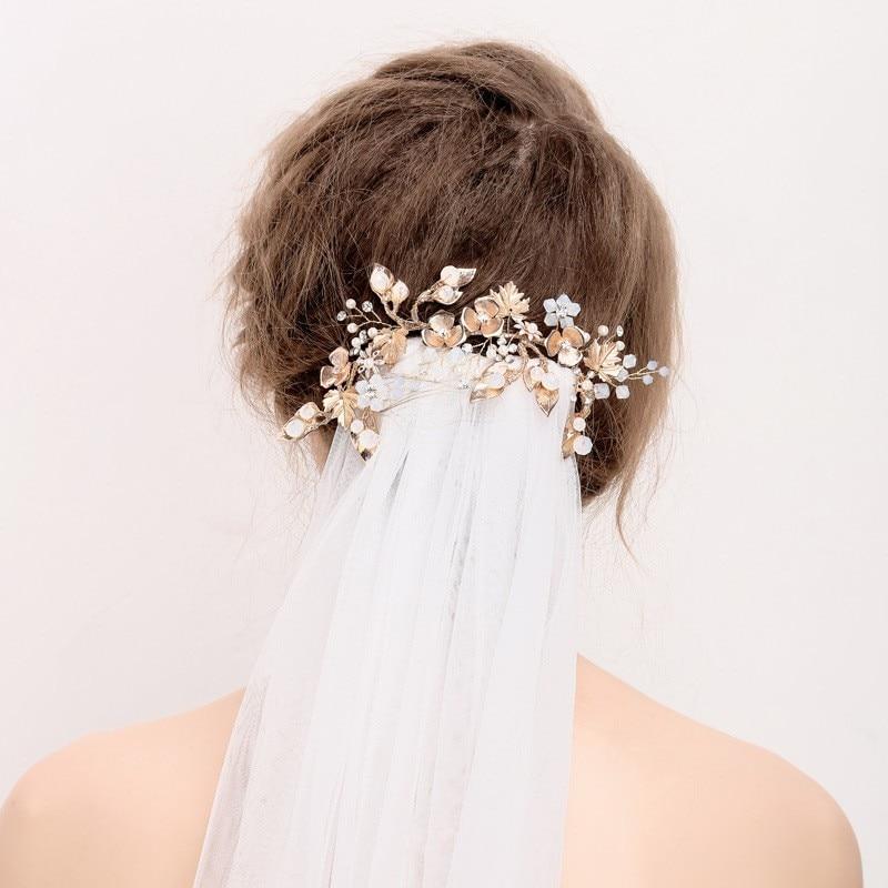 Jonnafe Boho Золотий лист Волосся - Модні прикраси - фото 2
