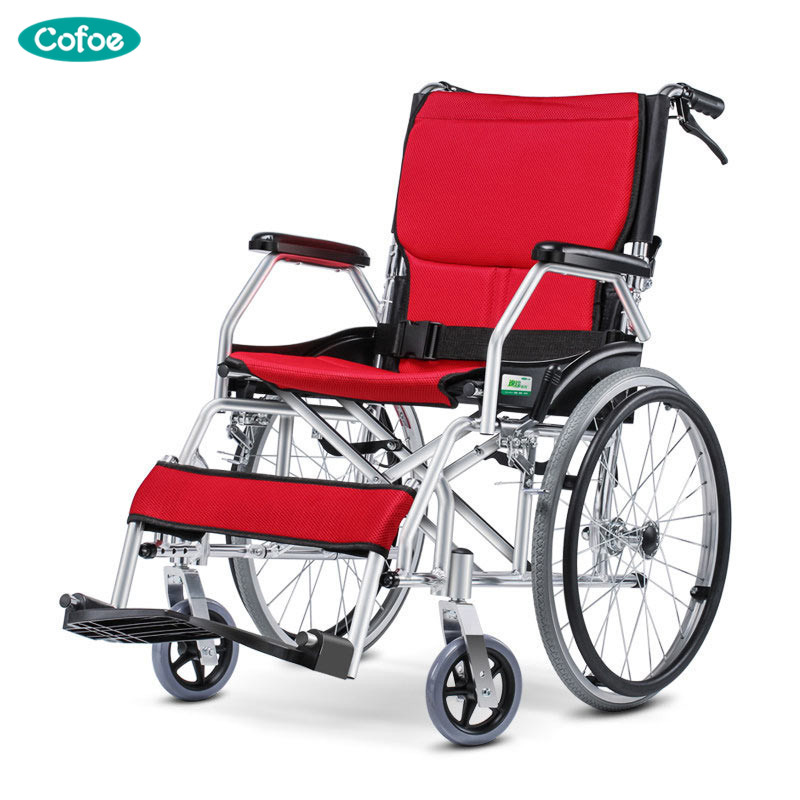 Portable Cofoe Medical Wheelchair Aluminium Alloy Folding Portability Travel Scooter for Old Man the Disabled Health Care цены