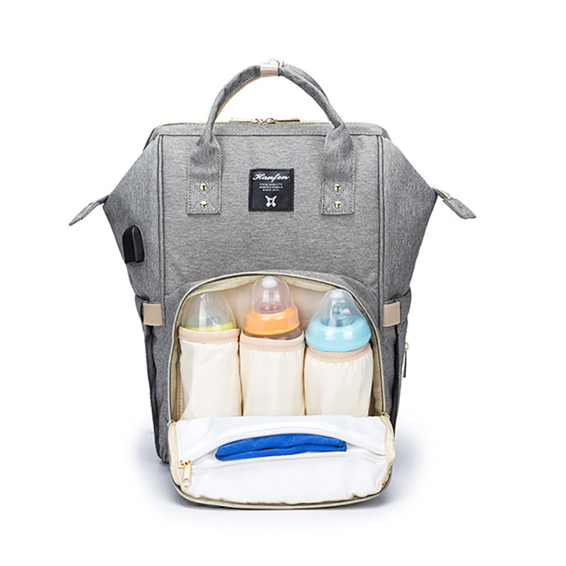 Gabesy Diaper Bags Fashion Mummy Maternity Baby Care Nappy Bag Baby Diaper Bag With USB Interface Large Capacity Waterproof