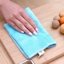 Bamboo fiber dish towel polyester cloth thick bamboo fiber washing cloth do not dip oil water absorbent kitchen washing towel
