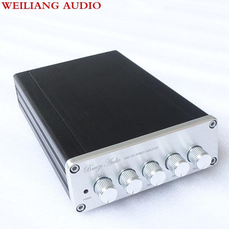 Breeze audio DP1 TPA3116 D2 NE5532 * 4 2.1 Digital Amplifier 50W * 2 + 100W / Subwoofer Mini power Amplifier