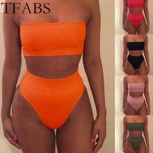 ITFABS, новинка, бикини, без бретелек, купальник для женщин, сплошной, 6 цветов, купальник,$4,27 за штуку, товар, сексуальный, с открытыми плечами, купальный костюм
