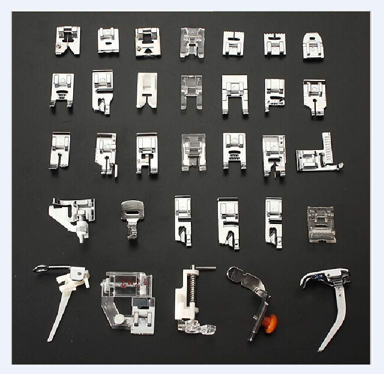Household multi-function electric sewing machine accessories 32 kinds of presser foot set a combination of presser foot cukyi multi function household electric grills
