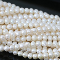 White Round Acrylic Natural Pearl Loose Beads 7 8mm Fit Top Quality Handmade Bracelet Necklace Jewelry