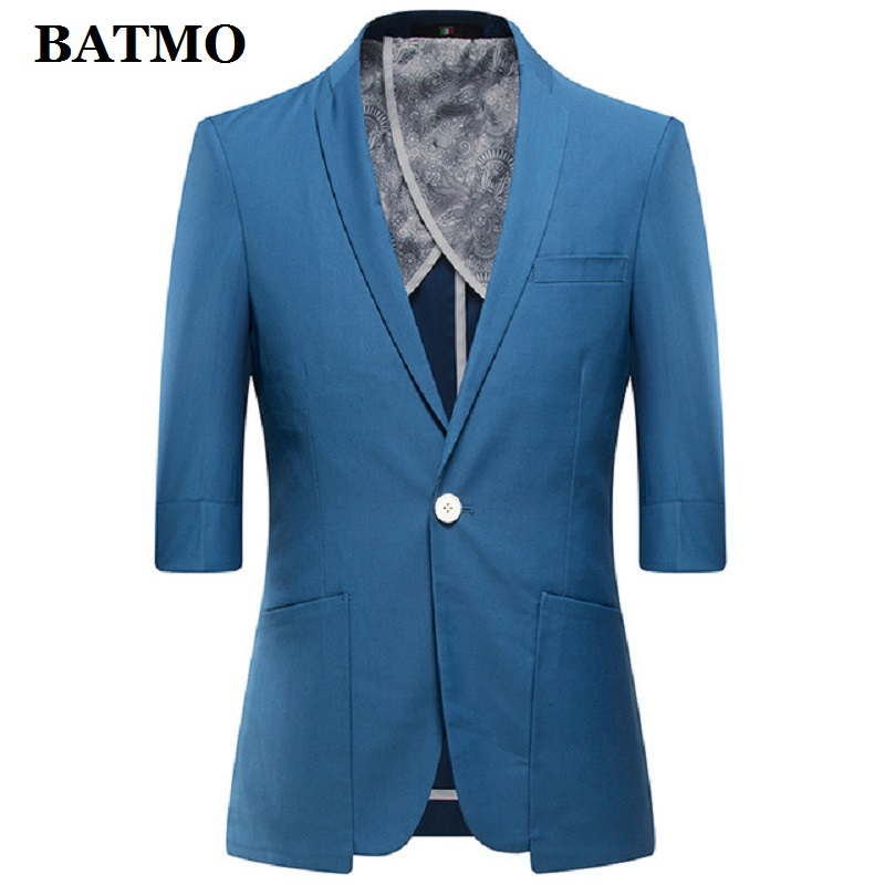 BATMO 2019 New Arrival Summer High Quality Casual Blazer Men,men's Summer Jackets ,plus-size M-4XL,1803