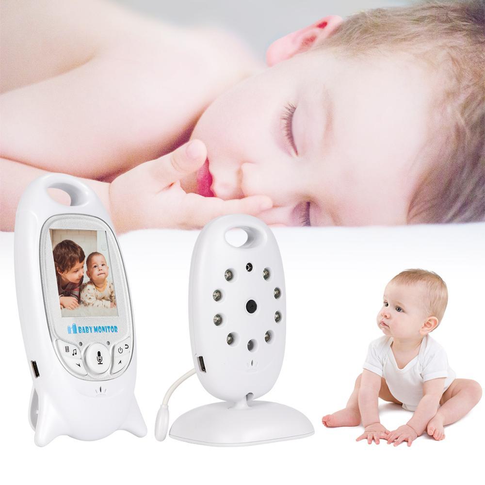 Moniteur bébé sans fil infantile 2.4 GHz moniteur vidéo numérique bébé affichage de la température Vision nocturne moniteur de musique nounou VB601 EU