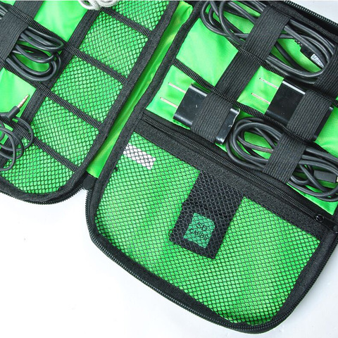 Gadget Cable Organizer Storage Bag Travel Electronic Accessories Cable Pouch Case USB Charger Power Bank Holder Digitals Kit Bag Islamabad