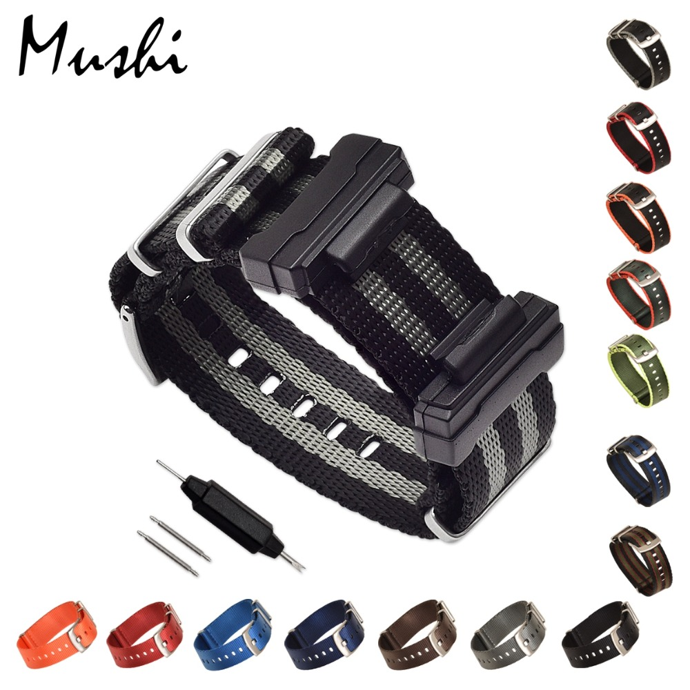 Set Of Terminals Replacement For Casio G-8900 GA-100\110\120 GD-100\110 Series DW-5600 GW-M5610 DW6900 + Nylon Strap Watchbands