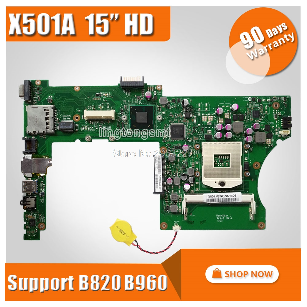 Original for ASUS X501A laptop motherboard X501A X401A REV2.0 15.6 HD Support B820 B960 CPU tested well and workingOriginal for ASUS X501A laptop motherboard X501A X401A REV2.0 15.6 HD Support B820 B960 CPU tested well and working