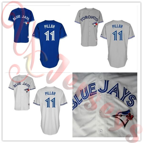 the latest 9c5d4 43c3c US $24.99 |2015 New Arrival 11 Kevin Pillar jersey Toronto Blue Jays  Baseball Jerseys gray cheap Authentic sport best buy direct china-in  Baseball ...