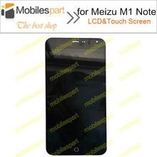 Meizu m1 note lcd pantalla 100% de visualización original del lcd + pantalla táctil de reemplazo de pantalla para meizu m1 note smartphone envío gratis