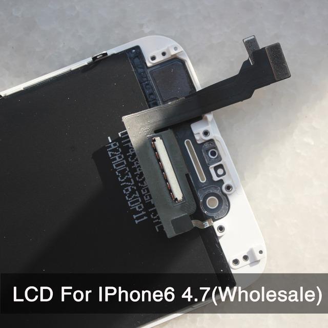 10 Pçs/lote Para iPhone 6 Display LCD de Toque Substituição Digitador Da Tela de 4.7 polegada de Qualidade AAA No Dead Pixel Frete Grátis branco