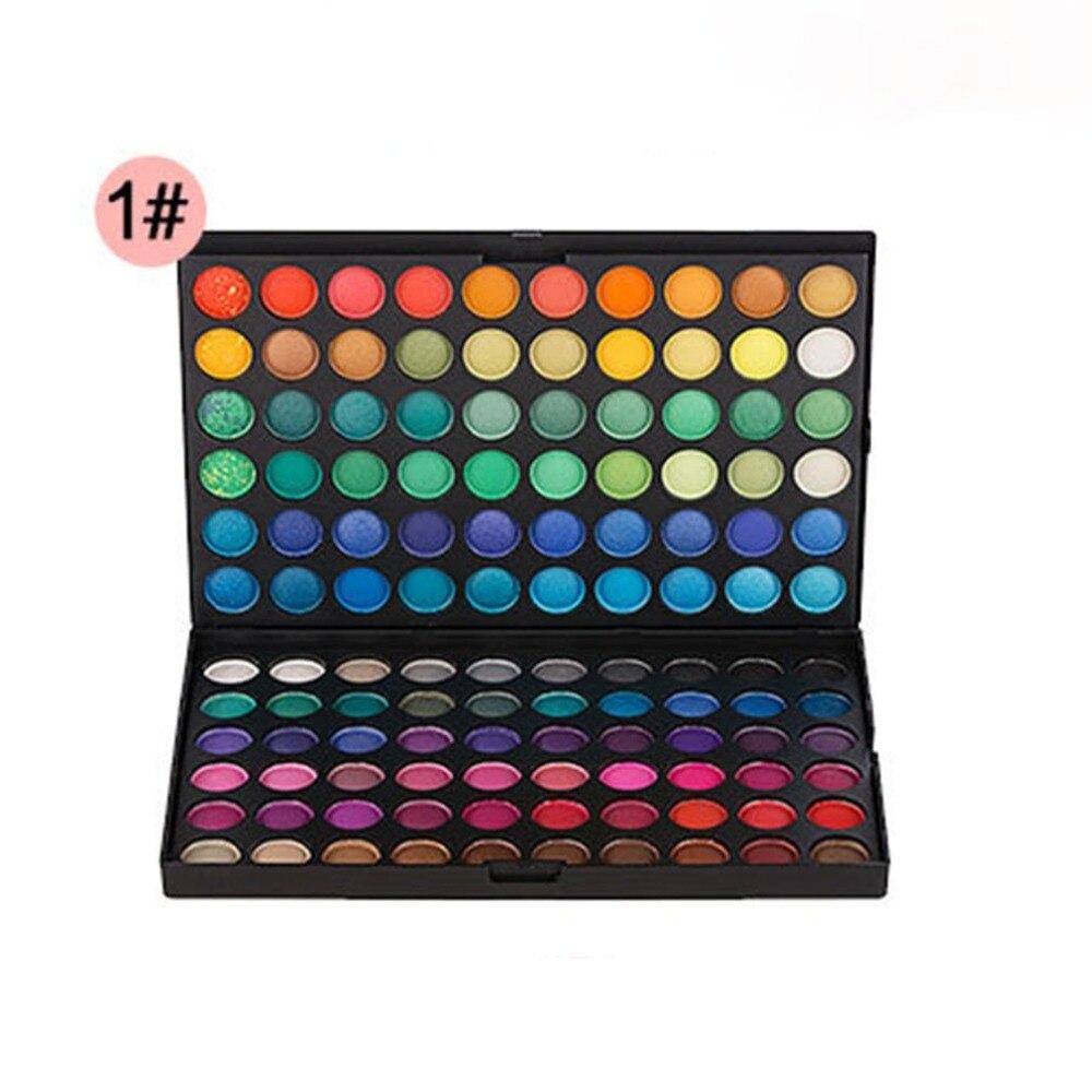 120 cores paleta de sombra maquiagem à prova dwaterproof água esfumaçado pérola matte shimmer sombra dos olhos conjuntos profissional brilho de luxo